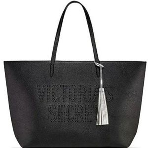 NWT Victoria Secret tote with tassel faux leather